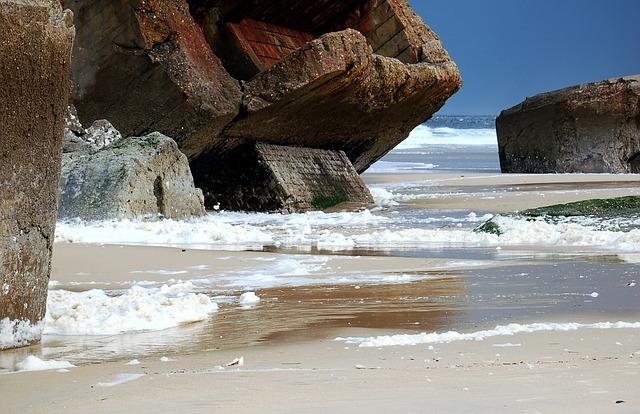 Bunker an der Nordseeküste